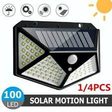 100/208 LED Solar Power PIR Motion Sensor Wall Light Outdoor Garden Lamp Hot