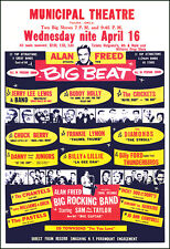 BUDDY HOLLY JERRY LEE CHUCK BERRY 1958 Tulsa Oklahoma Concert Poster