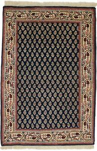 Handmade Navy Floral Indo-Botemir 2X3 Paisley Design Oriental Rug Home Carpet