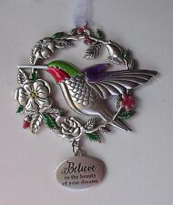 ffd Believe in beauty of your dreams BLESSED BEYOND MEASURE Ornament hummingbird