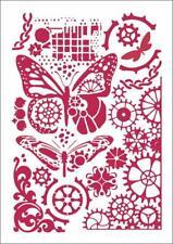 Stamperia A4 Mix Media Stencil – Butterflies & Mechanisms KSG421 New