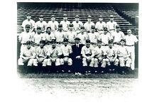 1945 8X10 TEAM PHOTO PHILADELPHIA ATHLETICS SCHEIB  BASEBALL  USA HOF