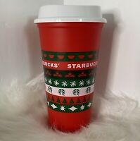 Starbucks 11/6/2020 LIMITED Reusable Cup Grande 16oz Red Holiday Christmas Xmas