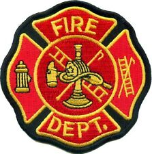 BRAND NEW FIRE DEPARTMENT (RED) LOGO BIKER IRON ON PATCH