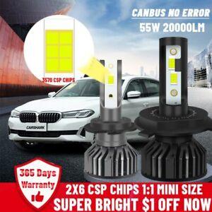 H7 Led Headlight Canbus 20000Lm H1 H4 Bulbs High Low Beam Hb3 Hb4 Lamp Fog Light