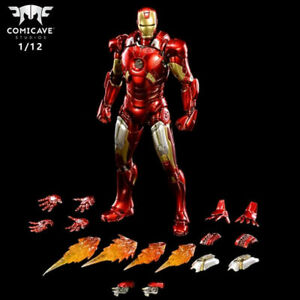 1/12 Scale Comicave Alloy Iron Man MK7 Collection Movable Figure New in Box