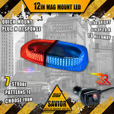 240 LED Light Bar Roof Top Emergency Strobe Police Rapid Switch Truck RED BLUE