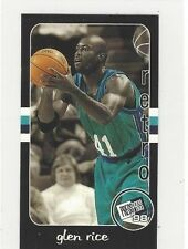 1998 PRESS PASS DOUBLE THREAT BASKETBALL RETROS GLEN RICE #RT35 - MICHIGAN