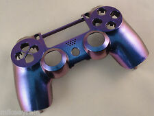 Blue and Purple Chameleon Front Face Shell For PS4 Controller - New