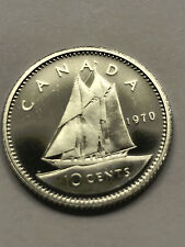 1970 CANADA 10 CENTS PROOF LIKE DIME #3947