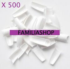 500 TIPS CAPSULES BLANCHES FAUX ONGLES BLANC GEL UV