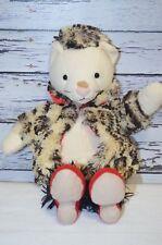 "Jellycat London Furcoat Kitty Cat 12"" Plush Children's Stuffed Animal"