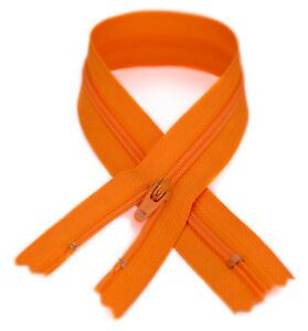 YKK #3 Coil Zipper, 7 inch length, Medium Orange 006 (10 Pack)