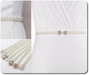 Cintura Sposa Taillenband Cintura Abendkleidgürtel Perle Con Ciondolo 8 Modelli