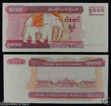 Myanmar Burma 5000 Kyats Paper Money 2009 Unc