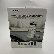 """Merkury Windshield & Dash Mount - Universal Car Mount Up To 3.5"""" Wide (Grey)"""