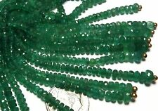 """2.5"""" Strand EMERALD 2.5-4mm Faceted Rondelle Beads NATURAL"""