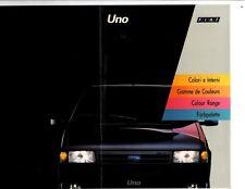 Fiat Uno Fire Diesel selecta SL Sx Turbo, es decir, folleto de pintura de color Colori 1992