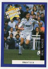 Panini 1996 estrellas europeas Español cuestión tarjeta Jose amavisca Real Madrid