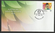 AUSTRALIA 2016 CHLOE ESPOSITO PENTATHLON RIO OLYMPIC GAMES GOLD MEDAL 1v FDC