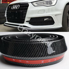 Rubber Front Bumper Edge Strip Chin Protection Side Skirts Spoiler Lip for Audi