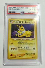 Pokemon: Japanese Light Jolteon Neo Destiny PSA 10 Gem Mint
