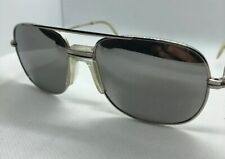 Vintage Aviator Sunglasses Made In Japan Silver Frame Mirror Lenses Pilot