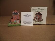 """The Cornwall Cottage Hand Painted Cold Cast Porcelain """"The Old Post Office"""" 1993"""