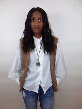 Vintage St John For Neiman Marcus Hippie Boho Sweater Vest With Metallic Thread