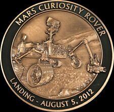NASA MARS CURIOSITY ROVER LANDING AUGUST 5, 2012 MARS EXPLORATION COMMEMORATIVE
