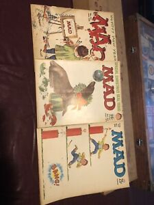 Lot of 3 vintage special issue MAD magazines. 1960's, Comic. Old