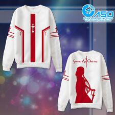 Anime Hoodie Sword Art Online Yuuki Asuna Cosplay warm Casual Sweatshirt Jacket