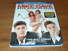Mike and Dave Need Wedding Dates (Blu-ray/DVD 2-Disc Set 2016)
