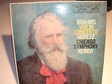 Brahms Violin Concerto Heifetz Chicago Symphony Reiner RCA LM-1903 VG+ / VG