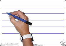 Childrens Educational Kids Early Learning Double Sided Whiteboards Dry Wipe Pen Lined A4