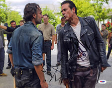 Andrew Lincoln Jeffery Dean Morgan DUAL SIGNED 11x14 Photo Walking Dead PSA/DNA