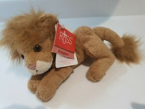 RUSS RUGGLES BROWN LION SOFT TOY COMFORTER BEANIE  NO. 21844 NEW WITH TAG