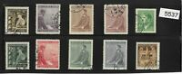 #5537    Stamp set / Third Reich / Adolph Hitler / WWII Germany Protectorate