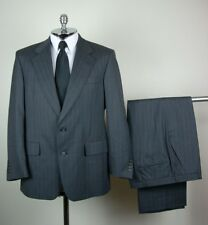 HART SCHAFFNER & MARX Mens Gray PURE VIRGIN WOOL Two Button Suit size 41 S