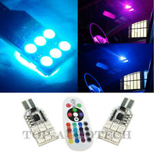RGB 194 168 LED Remote Control map Dome Light bulb car atmosphere decoration D3