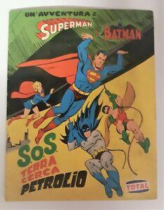 Figurine Superman e Batman S.O.S. terra cerca petrolio Total con 10 figurine man