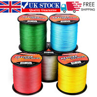 UK 300M/330Yard PE Spectra Braided Fishing Line 4 Strands Multifilament 6-100LB
