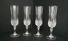 Cristal D'Arques Longchamp 4.5oz Glass Champagne Flute - Set of 4 EUC