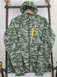 UNDER ARMOUR Size Medium UA Storm Mens Camo Full ZIp Nylon Windbreaker Jacket
