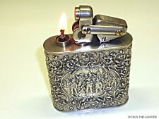 KW (KARL WIEDEN) TABLE LIGHTER W. NETHERLANDS 833 SILVER CASE - 1932 -GERMANY