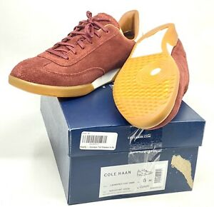 Cole Haan Men's GrandPro Turf Sneaker Mahogany Suede Size 8 Left Size 10 Right