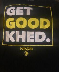 NINJA BOYS T-SHIRT LARGE(10-12) Black GET GOOD KHED!!!