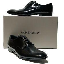 NEW Giorgio Armani Pebbled Patent Leather Formal Dress Oxford 10 43 Men's Tuxedo
