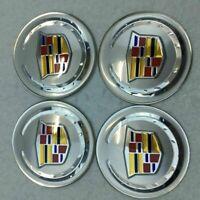 4 PCS 65mm Car Wheel Center Hub Caps Trim Emblem Stickers Decals For Cadillac