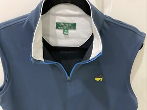 MASTERS PETER MILLAR 1/4 Zip Pullover Sweater Vest Shirt AUGUSTA NATIONAL Sz M